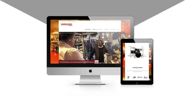 Der neue Webauftritt der Soundfabrik